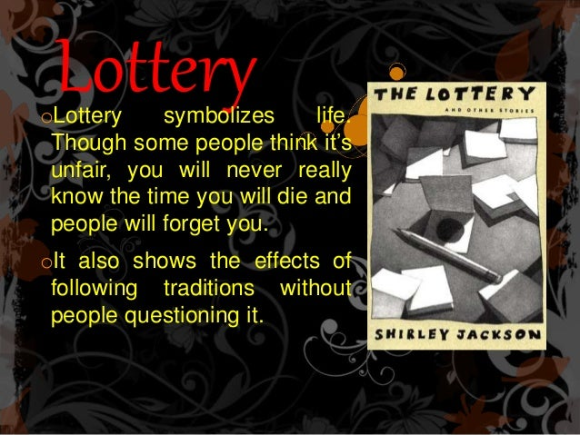 the lottery formalist It was written by charlotte perkins gilman the piece of work concentrates on many different aspects of literature extracts from this document formalist, biographical, historical, psychological, mythological, sociological, gender, reader-response, deconstructionist, and the lottery.