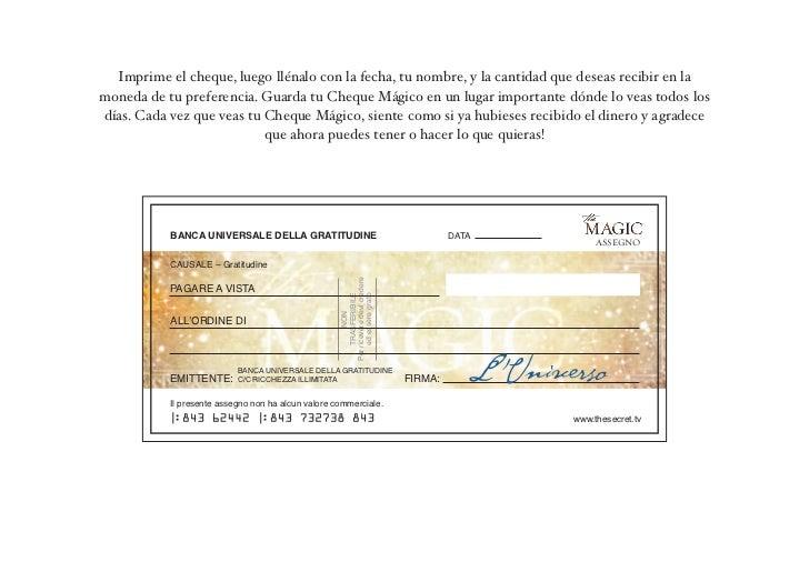 Imprime el cheque, luego llénalo con la fecha, tu nombre, y la cantidad que deseas recibir en lamoneda de tu preferencia. ...
