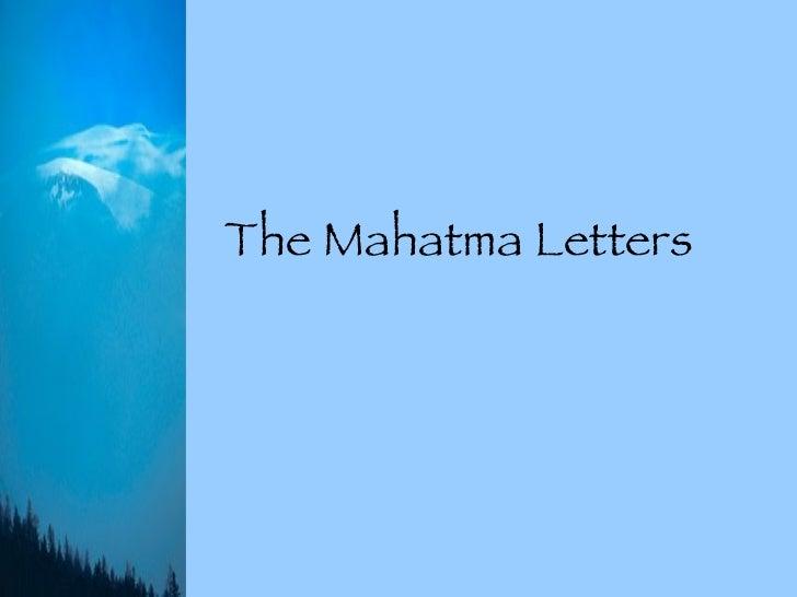 The Mahatma Letters