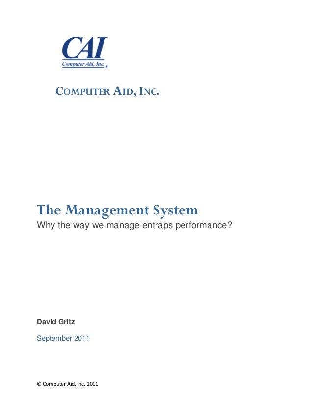 The management-system-white-paper