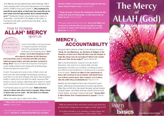 """""""Indeed, the mercy of Allah is near to the doers of good. """" Qur'an 7:56 and offspring, and are granted many other blessing..."""