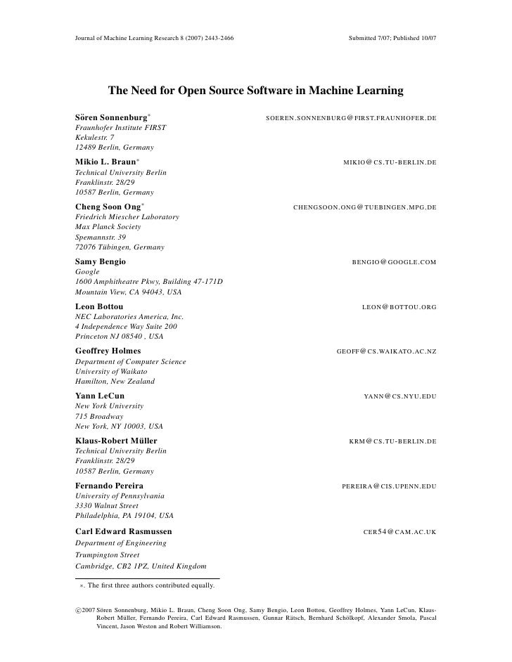 Journal of Machine Learning Research 8 (2007) 2443-2466                                      Submitted 7/07; Published 10/...