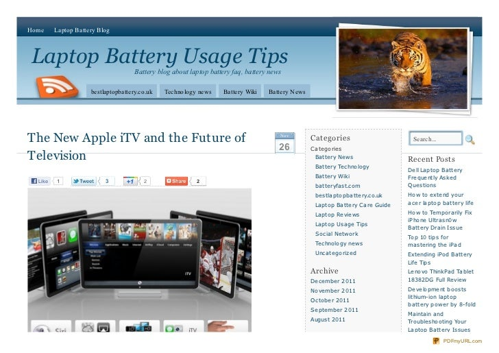 Home     Laptop Battery BlogLaptop Battery Usage Tips                                     Battery blog about laptop batter...