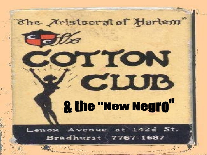 """The """"New Negro"""" of the 1920's"""