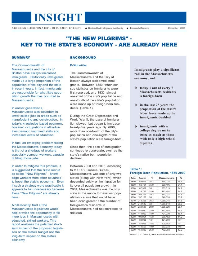 "The ""New Pilgrams"" - Key to the State's Economy - Are Already Here"
