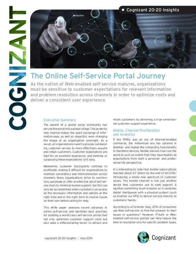 The Online Self-Service Portal Journey