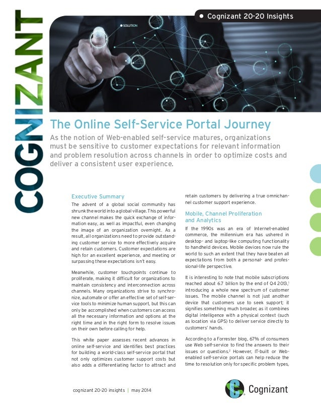 The Online Self-Service Portal Journey