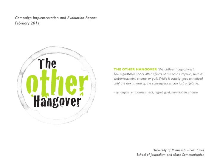 The Other Hangover - Final Report