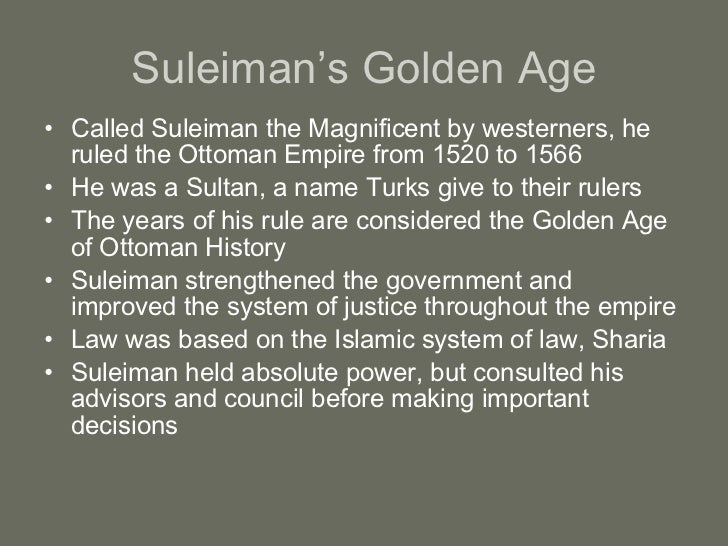 Suleiman the Magnificent justice