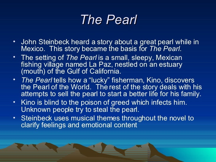 a plot overview of the story of the pearl The pearl summary and analysis book report, or summary of john steinbeck's the pearl 1 3107 votes enotes - the pearl the reviewer describes their feelings about the story and characters along with a brief plot summary estimated read time : 2 minutes word count: 615 3.