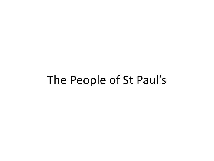 The People of St Paul's