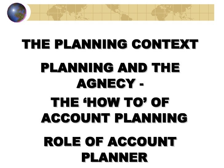 The Planning Context