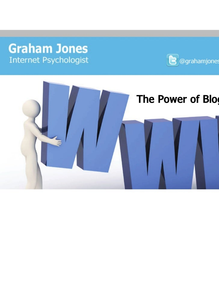 The Power of Blogging, CIM Essex, Social Media Marketing Boot Camp, 12th May 2011