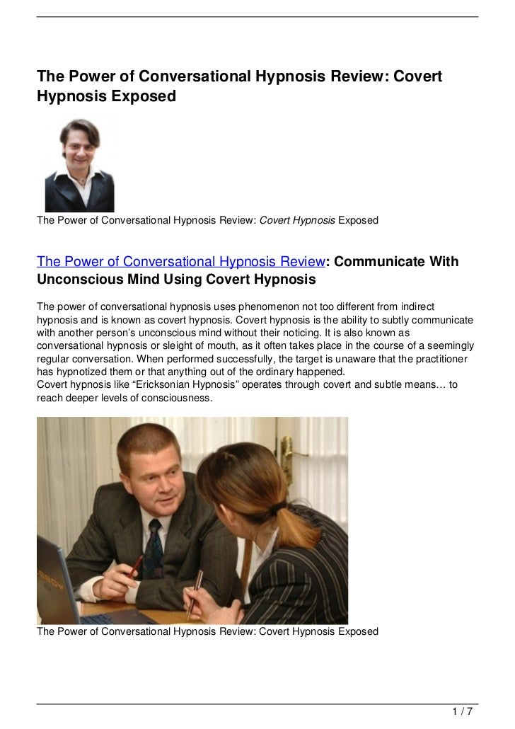 The Power of Conversational Hypnosis Review: CovertHypnosis ExposedThe Power of Conversational Hypnosis Review: Covert Hyp...