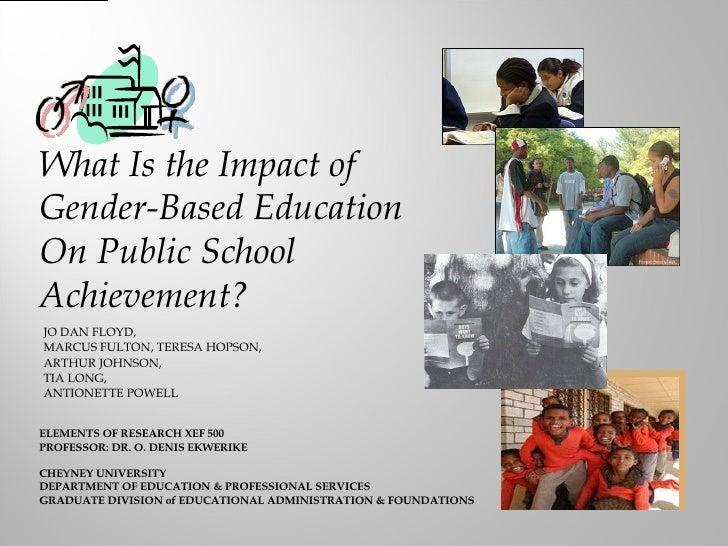 Gender Education