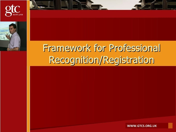 The Process of GTCS Registration