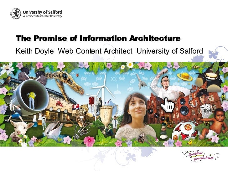 The Promise of Information Architecture Keith Doyle  Web Content Architect  University of Salford