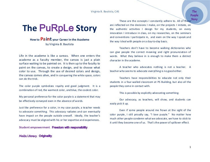 Story Purple The Purple Story Virginia b