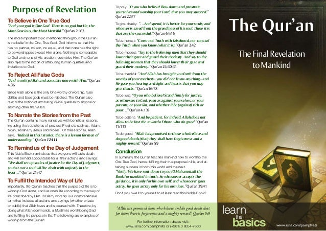 The Qur'an The Final Revelation to Mankind