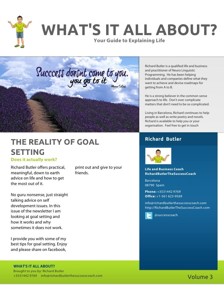 The reality of goal setting