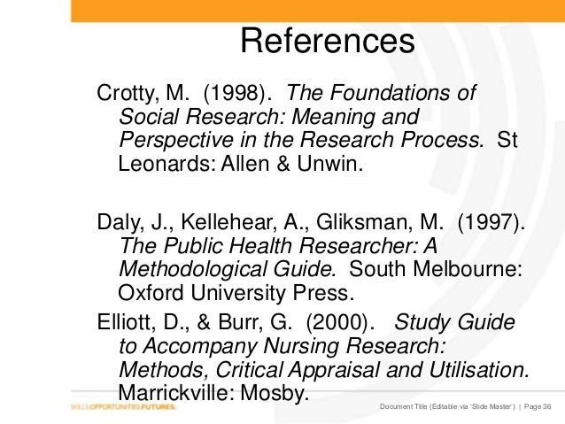 crotty 1998 the foundations of social research pdf