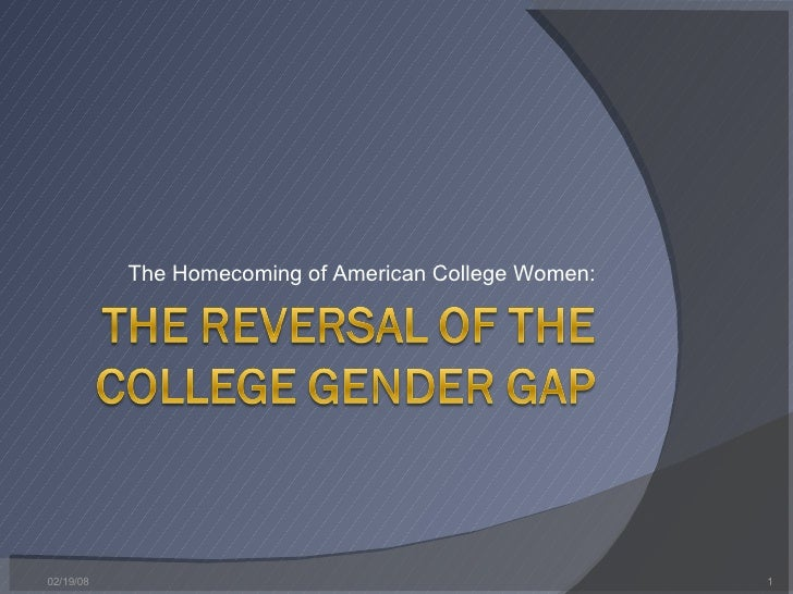 The Reversal Of The College Gender