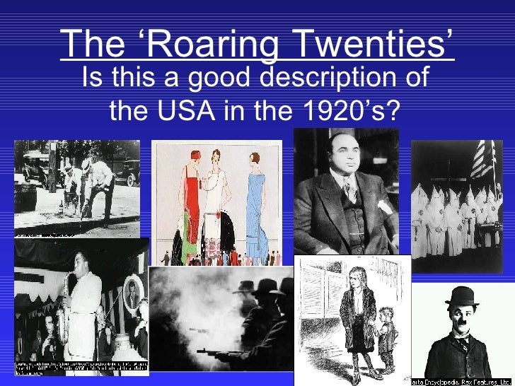 a brief history and the main events of the roaring twenties in american history Us history/roaring twenties and prohibition 1 live events, jazz, variety shows, drama, opera, the had some major breakthroughs in medicine and science.