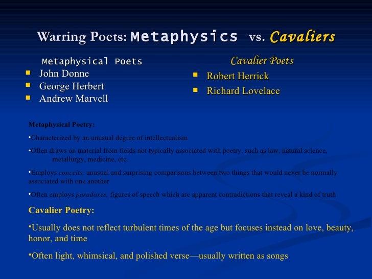 Robert Herrick cavalier or metaphysical