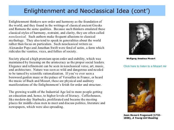 romanticism and enlightenment essay Enlightenment vs romanticism enlightenment vs romanticism the enlightenment was an 18th century movement that emphasized reason to change society and advance knowledge the enlightenment changed how people all over europe, and later north america, thought about religion, hierarchy, monarchy, and science.