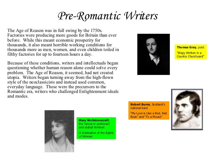 A question about 'romanticism' for you scholarly type folks :)?