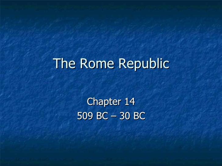 The  Rome  Republic Chap 14 6th Grade