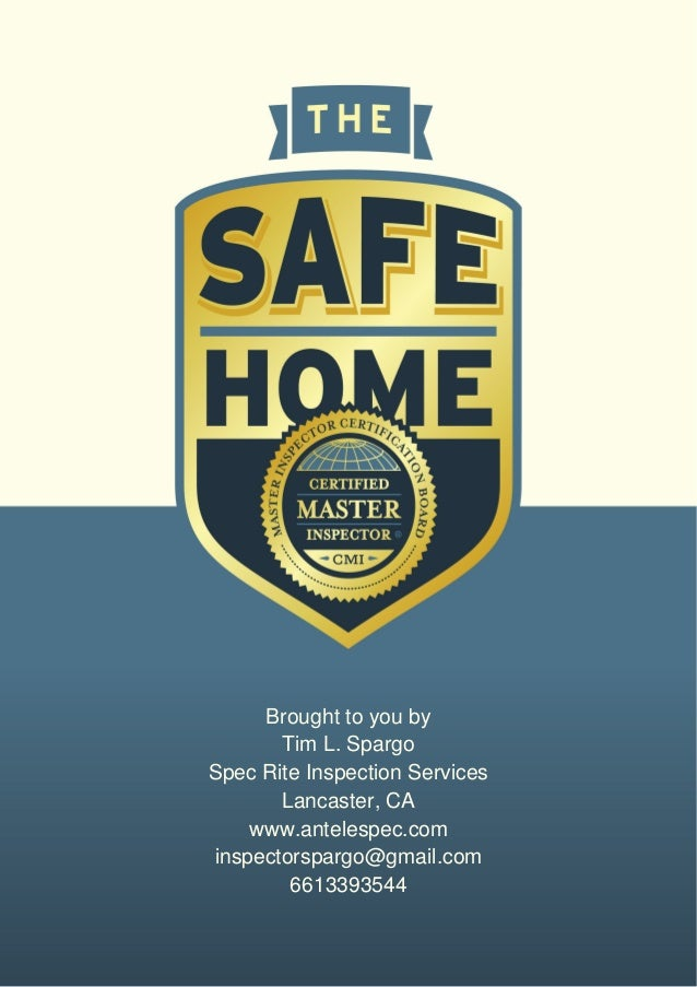 The Safe Home Book provided by Spec Rite Inspections