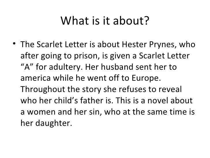 Essay On The Scarlet Letter
