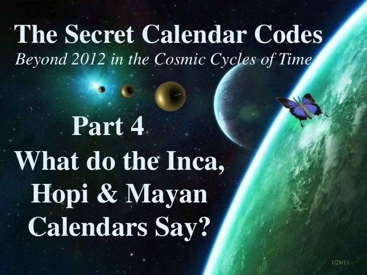 The Secret Calendar Codes 4 of 7