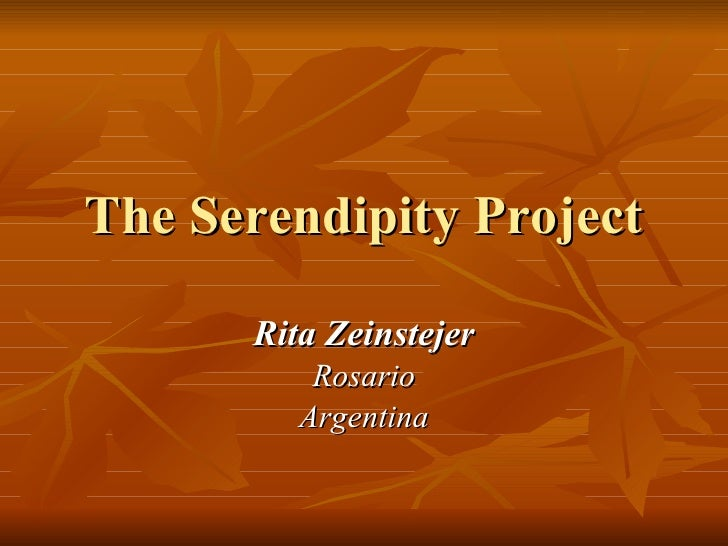 The Serendipity Project For Tesol 08