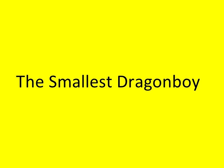 The Smallest Dragonboy Notes