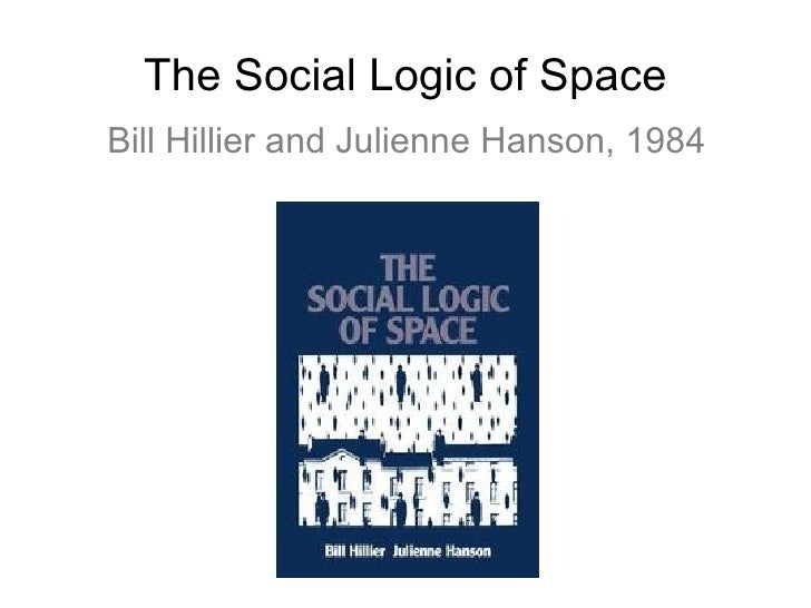 The Social Logic of Space Bill Hillier and Julienne Hanson, 1984