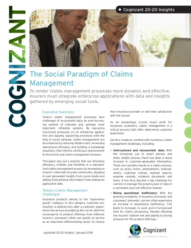The Social Paradigm of Claims Management