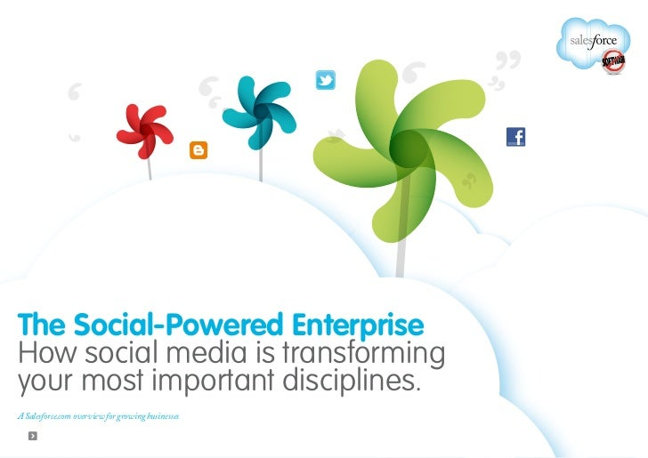 The Social-Powered EnterpriseHow social media is transformingyour most important disciplines.A Salesforce.com overview for...