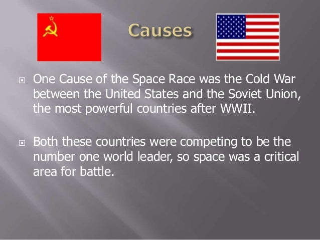 the space race between the united states and the soviet union The space race is best described as a post-cold war rivalry between the united states and the soviet union after the cold war the soviet union nearly collapsed due to their heightened effort to keep up with the united states' atomic weapons program, which took a large sum of money from the country.