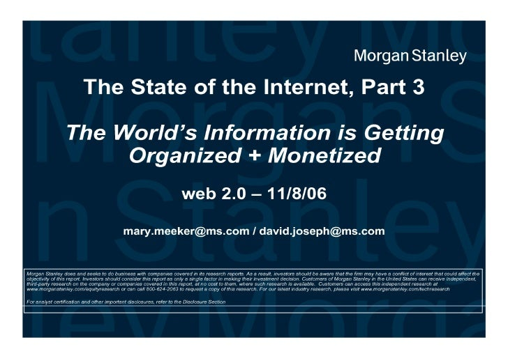 The State of the Internet - Web 2.0