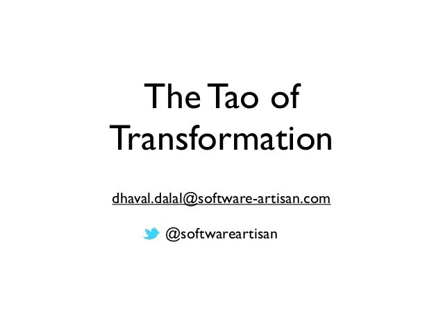 The tao-of-transformation