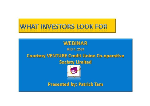 • Understand  the  mind  of  the  investor   • What  to  emphasize   • How  to  approach  the ...
