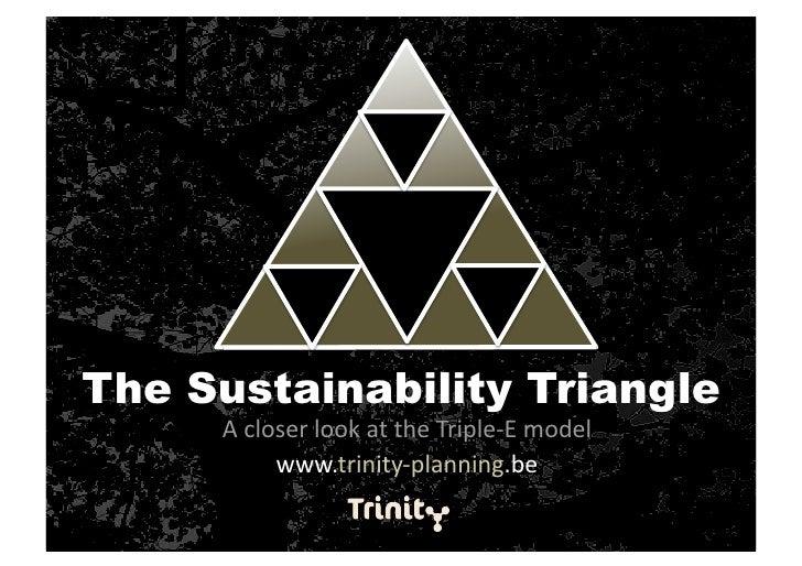 The Sustainability Triangle      AcloserlookattheTriple‐Emodel           www.trinity‐planning.be