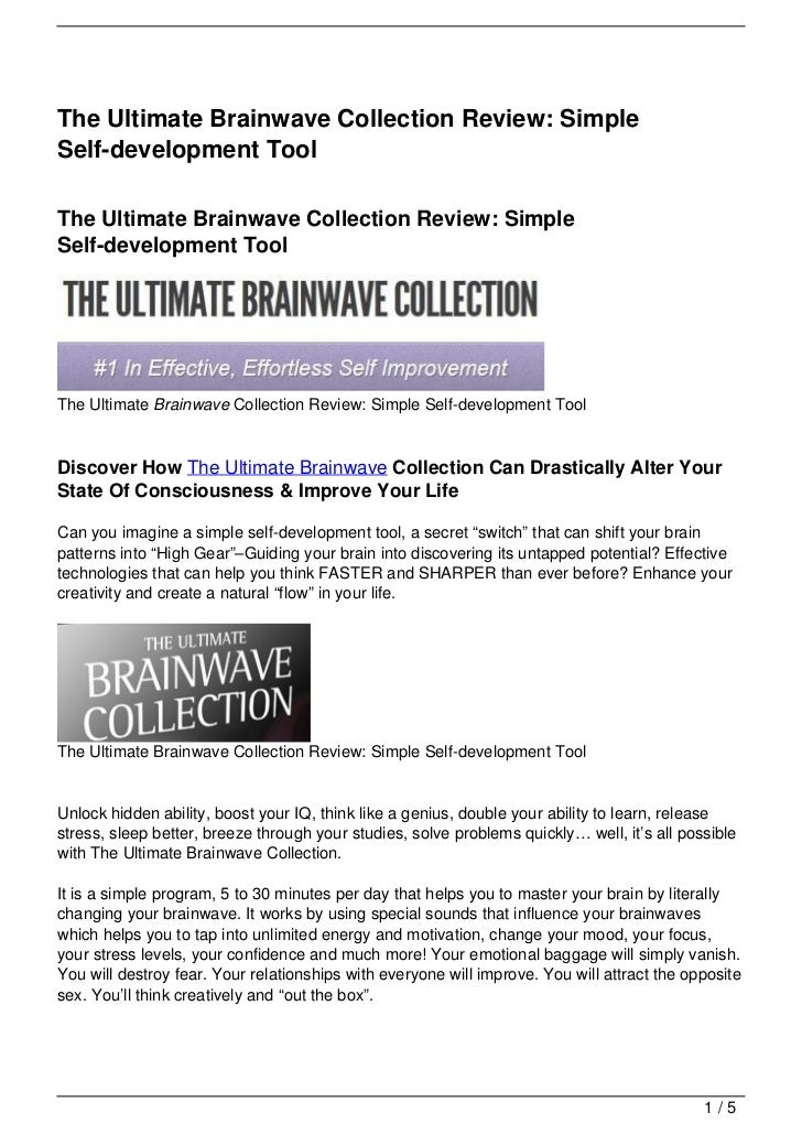 The Ultimate Brainwave Collection Review: Simple Self-development Tool