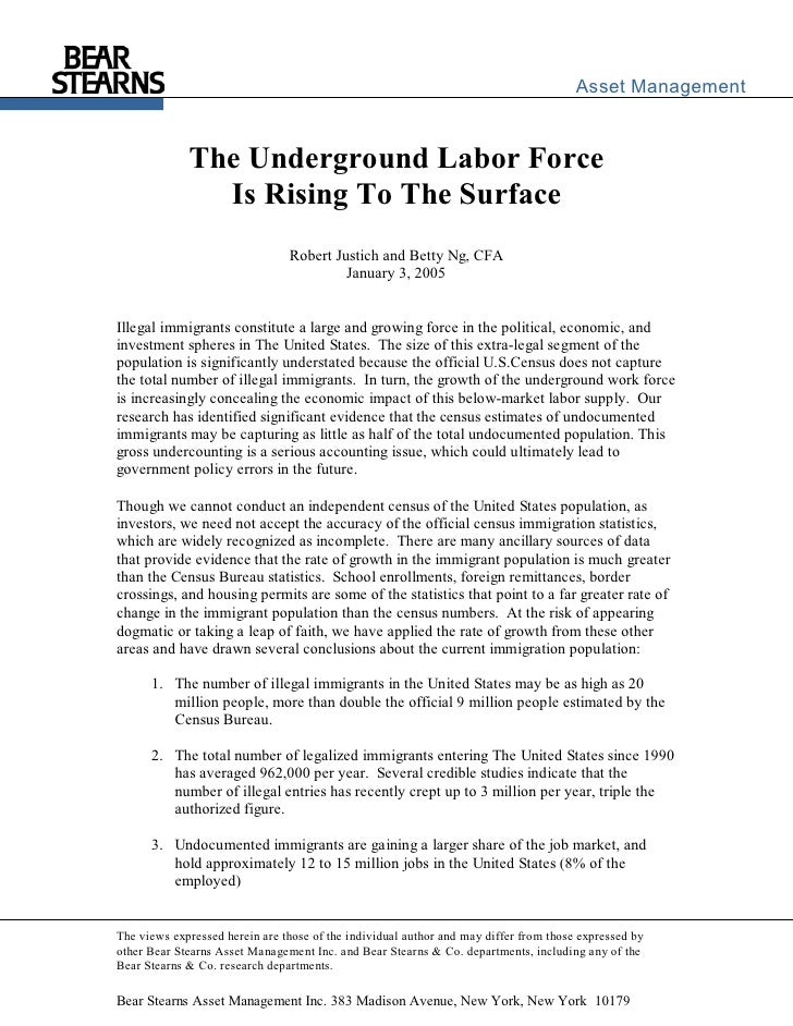 The underground labor market