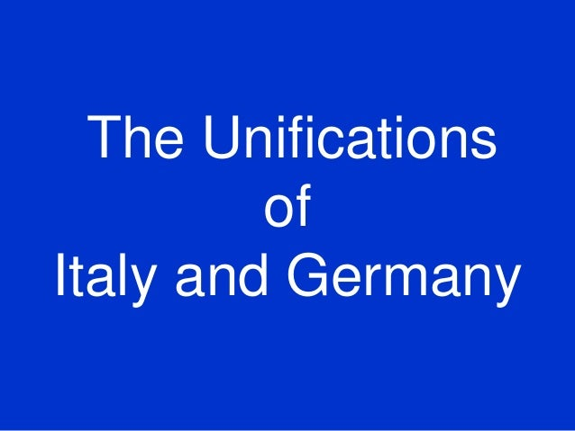 The Unifications of  Italy and Germany   (shared using VisualBee)
