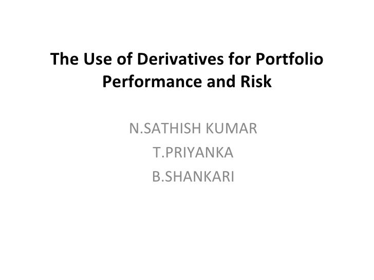 The Use Of Derivatives For Portfolio