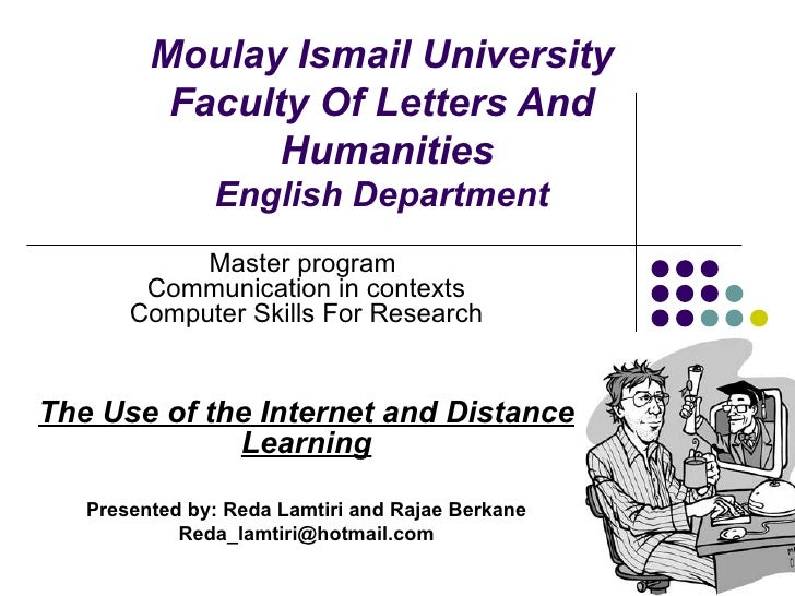 The Use Of The Internet And Distance Learning