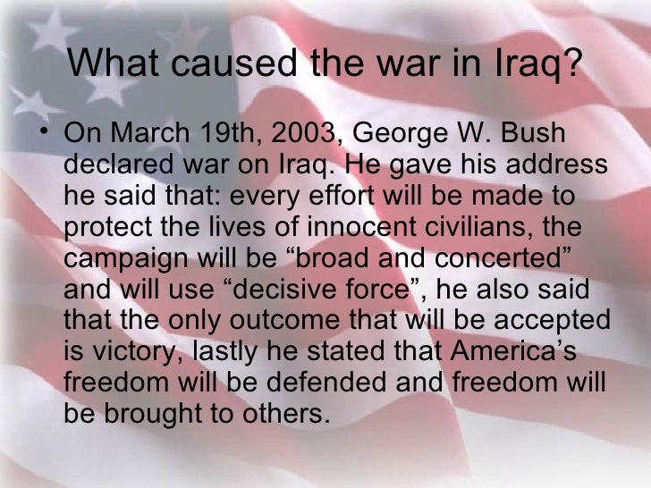 the four major players in the conflict in iraq Iraq with the 2003  that needs to be destroyed at all cost which already sparked four major wars and several hundreds of  a major catalyst for conflict in the.